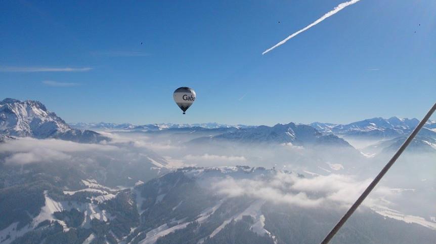 alpenballonfahrt ballonfahren winter ballooning