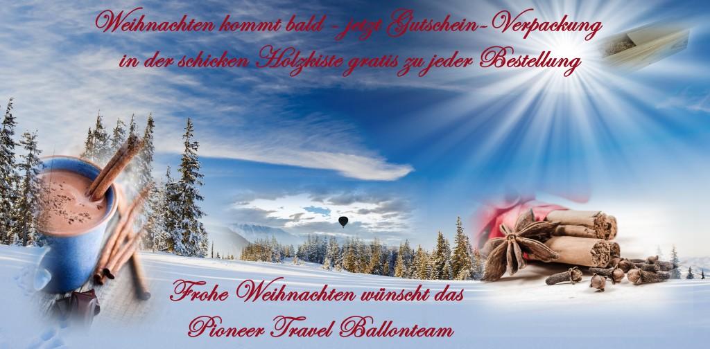 winter ballonfahren alpen