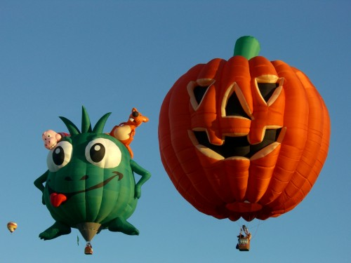 halloween ballonfahrt