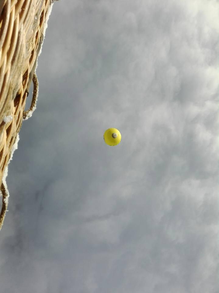 Alpen Ballonfahren Winter
